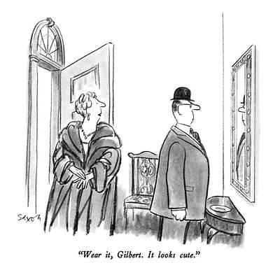 Wear It, Gilbert.  It Looks Cute Art Print by Charles Saxon