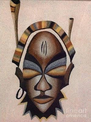 Faniart Africa America Photograph - Wearing A Mask On Purpose by Fania Simon