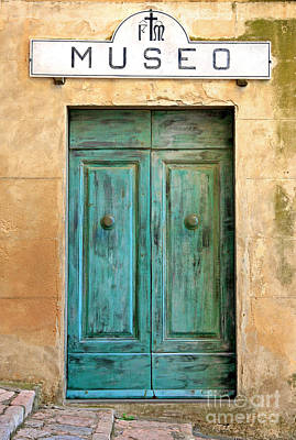 Weathed Museo Door Art Print