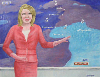 Forecast Painting - Weather Girl by Ronald Haber