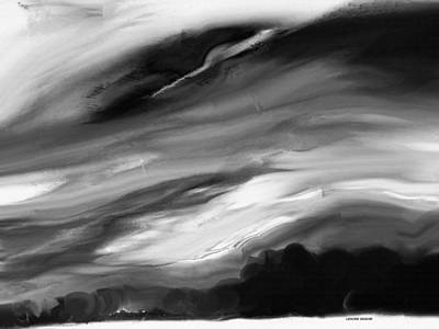 Sky Line Mixed Media - Weather In Black And White by Lenore Senior