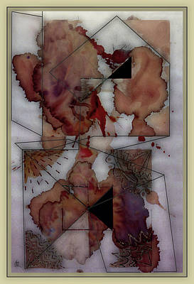 Pollack Mixed Media - Weather Report- Chance Of Rain by Guy Ciarcia
