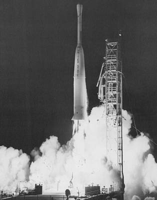 Weather Satellite Launch Print by Retro Images Archive