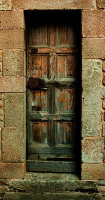 Photograph - Weatherd Barcelona Door by Denise Dube
