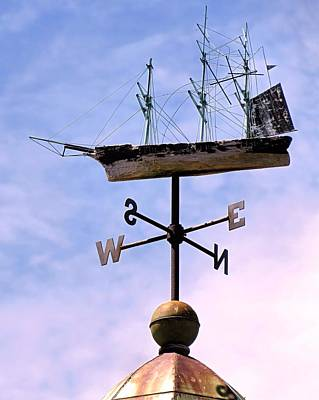 Photograph - Weathervane Ship by Janice Drew