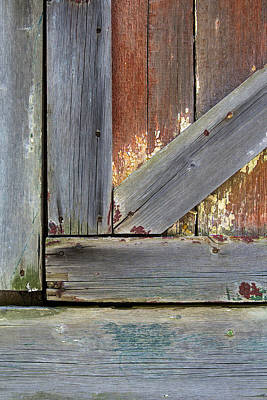 Photograph - Weathered Barn Door by David Letts