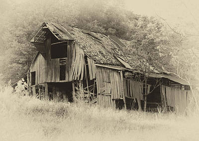 Photograph - Weathered Barn  by Harold Rau