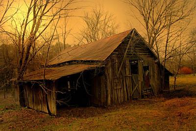 Luminism Photograph - Weathered Barn by Nina Fosdick