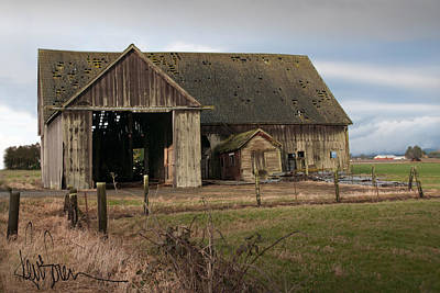 Weathered Barn Of Skagit County Art Print by Kent Sorensen
