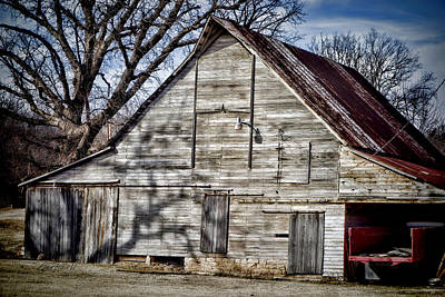 Photograph - Weathered Barn - Photography by Ann Powell