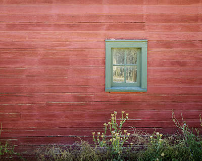 Photograph - Weathered Barn Window by Ann Powell