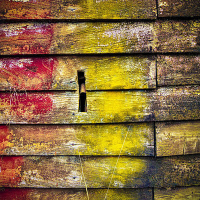 Photograph - Weathered Boards by Wayne Sherriff