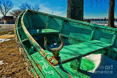 Weathered Boat Dry Docked Art Print by Paul Ward