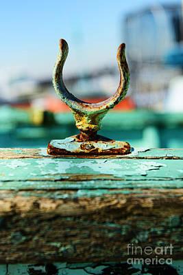 Weathered Boat Oar Lock Art Print