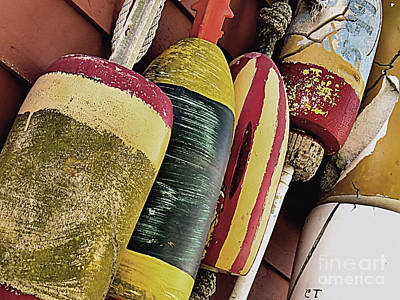 Photograph - Weathered Buoys by Janice Drew