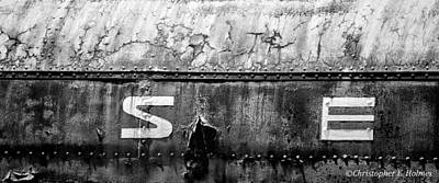 Photograph - Weathered - Bw by Christopher Holmes