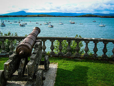 Photograph - Weathered Cannon Guards Ireland's Historic Bantry Bay by James Truett