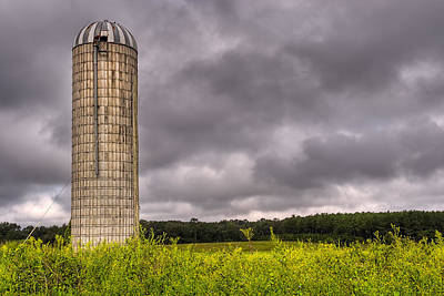Photograph - Weathered Farm Silo Beneath Brooding Skies - Georgia by Mark E Tisdale