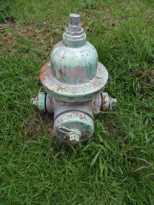 Weathered Fire Hydrant Art Print