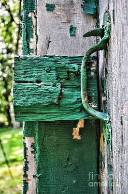 Weathered Green Paint Art Print by Paul Ward