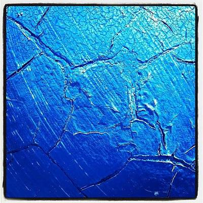 Painted Photograph - Weathered In Blue by CML Brown