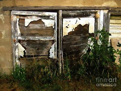 Weathered In Weeds Art Print by RC DeWinter