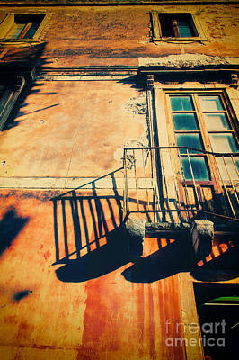 Photograph - Weathered Italian Facade by Silvia Ganora