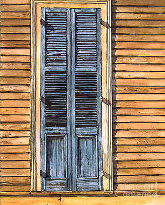 Garden District Painting - Weathered Shutters by John Boles