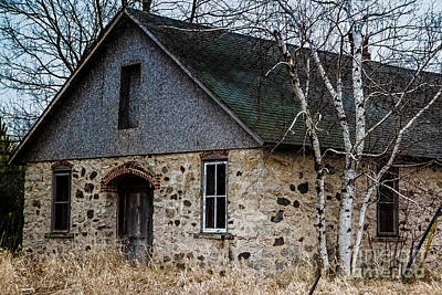 Nikki Vig Royalty-Free and Rights-Managed Images - Weathered Stone Building by Nikki Vig