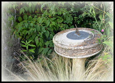 Photograph - Weathered Sundial by Carla Parris
