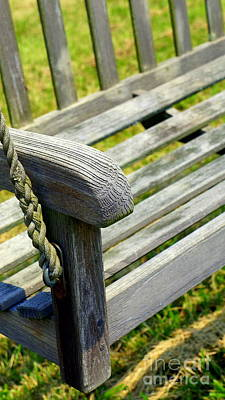 Photograph - Weathered Swing by Rachel Munoz Striggow