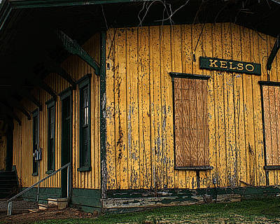 Photograph - Weathered Train Depot by TnBackroadsPhotos