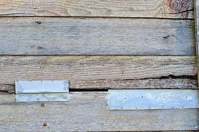 Photograph - Weathered Wall In Blue by Lynn Hansen