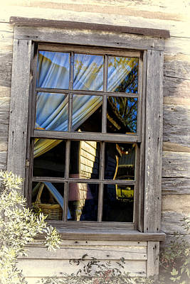 Cabin Window Digital Art - Weathered Window by Linda Phelps