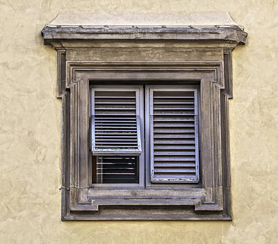 Photograph - Weathered Window Of Florence by David Letts