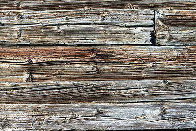 Photograph - Weathered Wood 1 by Charles Lupica