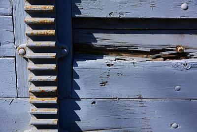 Weathered Wood And Metal Railing Art Print by Stuart Litoff