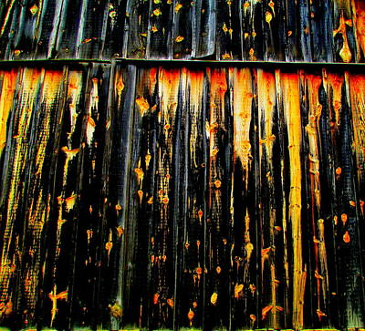 Photograph - Weathered Wood by Randall Weidner