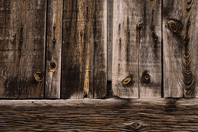 Natural Finish Photograph - Weathered Wooden Abstracts - 1 by Georgia Mizuleva