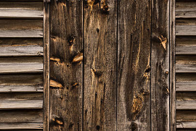 Natural Finish Photograph - Weathered Wooden Abstracts - 2 by Georgia Mizuleva