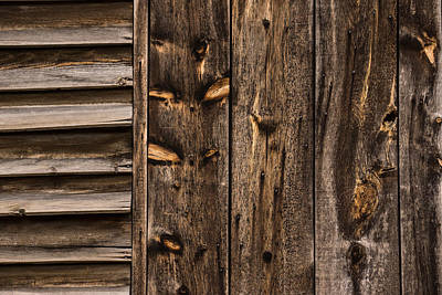 Natural Finish Photograph - Weathered Wooden Abstracts - 3 by Georgia Mizuleva