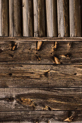 Natural Finish Photograph - Weathered Wooden Abstracts - 4 - Vertical by Georgia Mizuleva