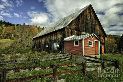 Photograph - Weathered Barn - Topsham Vermont By Thomas Schoeller by Expressive Landscapes Fine Art Photography by Thom