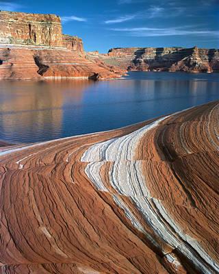 Photograph - Weathering Pit Ridge Stripes by Tom Daniel