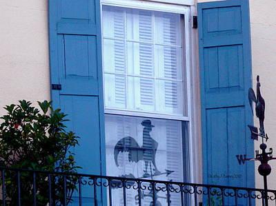 Charleston Weathervane Reflection Art Print by Kathy Barney