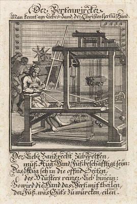 Weaver, Caspar Luyken, Anonymous Art Print by Caspar Luyken And Anonymous