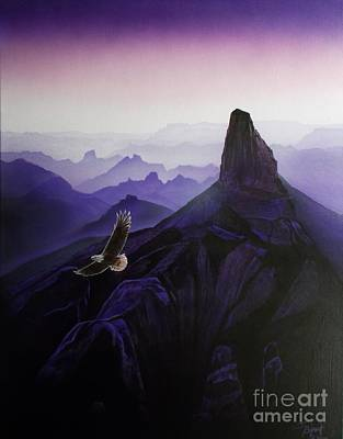 Superstition Mountains Painting - Weaver's Eagle by Jerry Bokowski