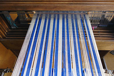 Photograph - Weaving Blue And White by Ann Powell
