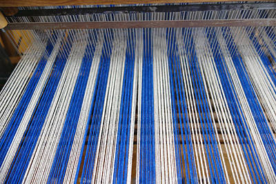 Photograph - Weaving Blue And White Two by Ann Powell