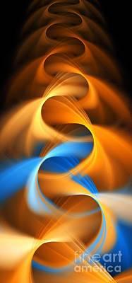Weaving Color  Art Print by Elizabeth McTaggart